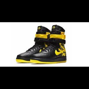 Nike SF AF1 Air Force One High Yellow